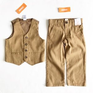 Gymboree NWT tan vest (2-3T) pant (3T) set